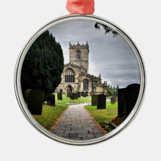 ecclesfield church Silver-Colored round decoration