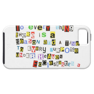 Ecclesiastes 3 Ransom Note Style iPhone 5 Covers