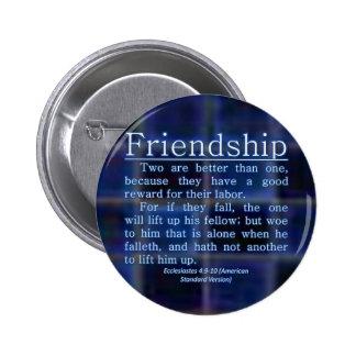 Ecclesiastes 4:9-10 6 cm round badge