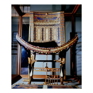 Ecclesiastical chair, from the tomb of poster