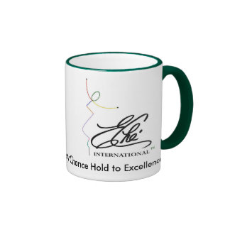 """Eche logo 2, """"Every Chance Hold to Excellence"""" Ringer Mug"""