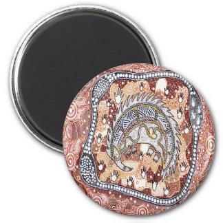 Echidna Dreaming 6 Cm Round Magnet