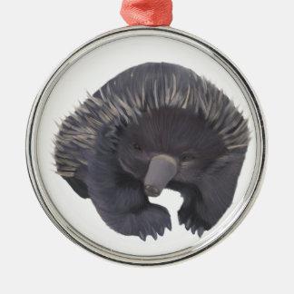 Echidna Silver-Colored Round Decoration