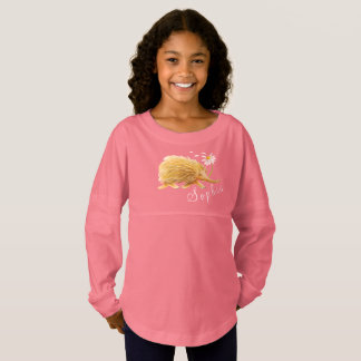 Echidna whimsy watercolor art custom name jersey shirt