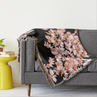 Echinacea Coneflower Flower Garden Throw Blanket