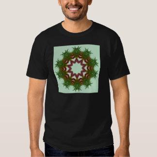 Echinacea Coneflower Wreath Kaleidoscope Tee Shirts