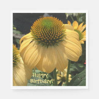 Echinacea Happy Birthday Disposable Napkin