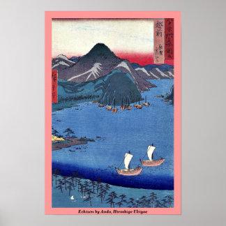Echizen by Ando, Hiroshige Ukiyoe Poster