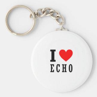 Echo, Alabama Basic Round Button Key Ring