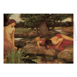 Echo and Narcissus fine art Card