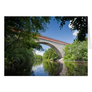 Echo Bridge at Hemlock Gorge, Charles River, Card