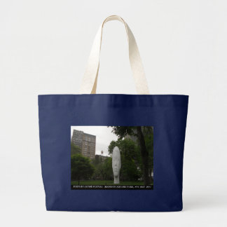 ECHO, by Jaume Plensa, Madison Square Park Large Tote Bag