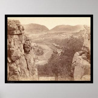 Echo Canyon seen through Sioux Pass SD 1891 Poster