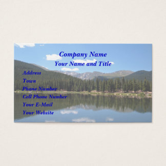 Echo Lake Mt Evans Colorado Business Card