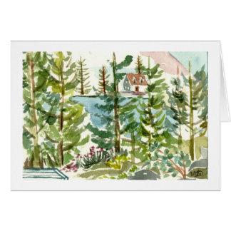 Echo Lake watercolor Card
