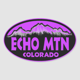 Echo Mountain Colorado purple oval stickers