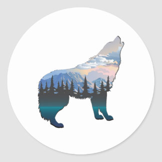Echo of Yellowstone Classic Round Sticker