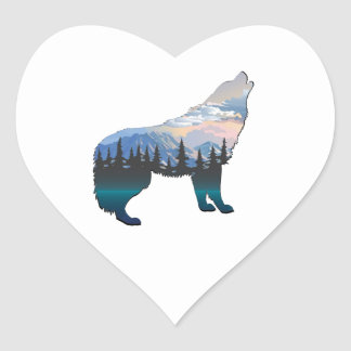 Echo of Yellowstone Heart Sticker