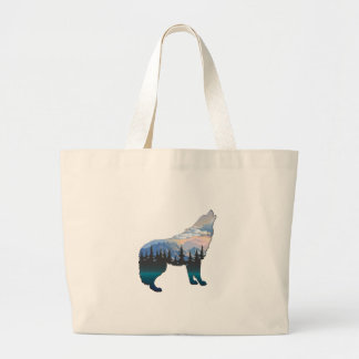 Echo of Yellowstone Large Tote Bag