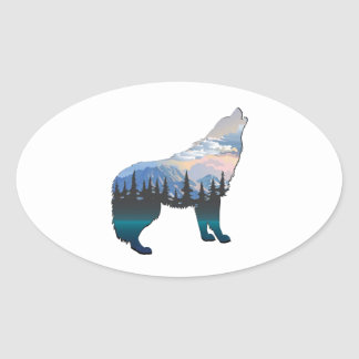 Echo of Yellowstone Oval Sticker