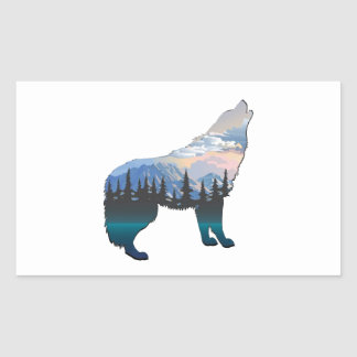 Echo of Yellowstone Rectangular Sticker