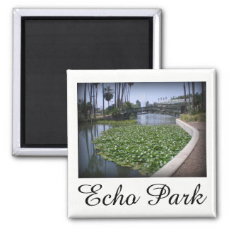 Echo Park Lake in Los Angeles, California Magnet