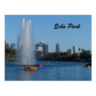 Echo Park Lake -Los Angeles Postcard