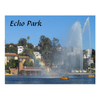 Echo Park Lake Postcard
