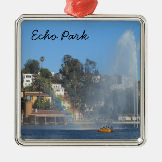 Echo Park- Los Angeles Metal Ornament