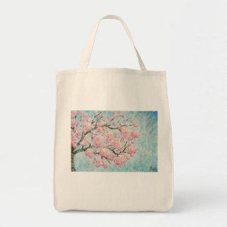 Echo Stock market of Art with Print of Ipê Rosa Tote Bag