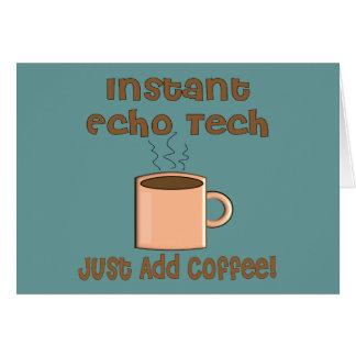 Echo Tech Gifts (Cardiac Echo Tech) Card