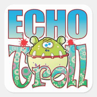 Echo Troll Square Sticker