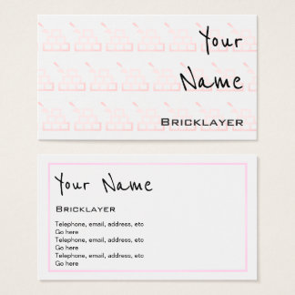 """""""Echoes"""" Bricklayer Business Cards"""