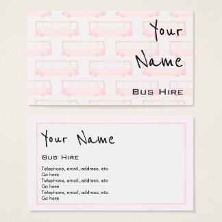 """Echoes"" Bus Hire Business Cards"