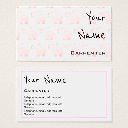 quotechoesquot carpenter business cards zazzle