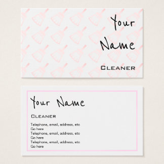 """""""Echoes"""" Cleaner Business Cards"""
