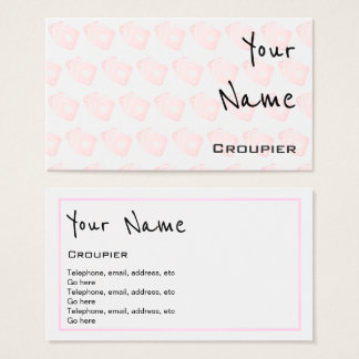 """Echoes"" Croupier Business Cards"