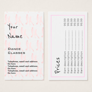 """""""Echoes"""" Dance Price Cards"""