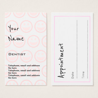 """Echoes"" Dentist Appointment Cards"