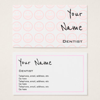 """""""Echoes"""" Dentist Business Cards"""