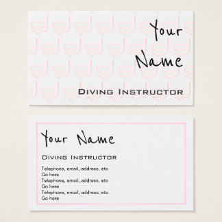 """Echoes"" Diving Instructor Business Cards"