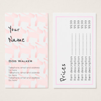 """Echoes"" Dog Walker Price Cards"