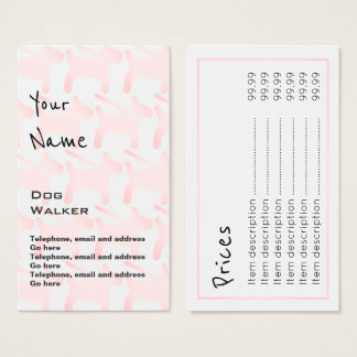 """""""Echoes"""" Dog Walker Price Cards"""