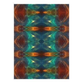 Echoes From the Depths Abstract Digital Art Design Personalized Invite