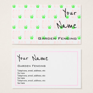 """Echoes"" Garden Fencing Business Cards"