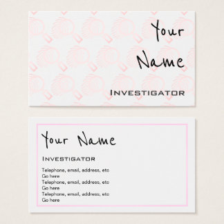 """Echoes"" Investigator Business Cards"