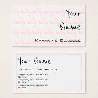 """Echoes"" Kayaking Business Cards"