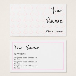 """Echoes"" Optician Business Cards"