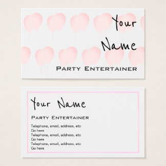 """""""Echoes"""" Party Entertainer Business Cards"""