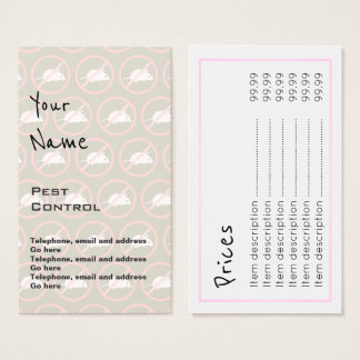 """""""Echoes"""" Pest Control Price Cards"""